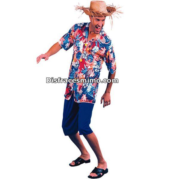 Tu mejor disfraz hawaiano para hombre adulto.El traje es perfecto para sorprender a amigos