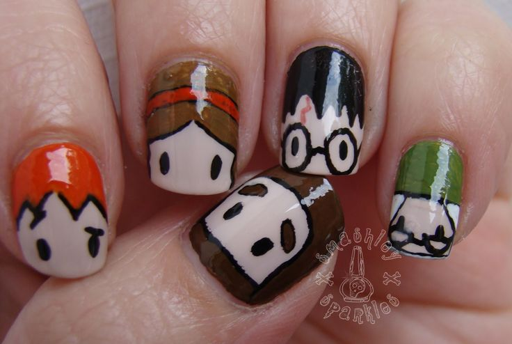 Character Design Nail Art : Images about nail art ideas on pinterest short