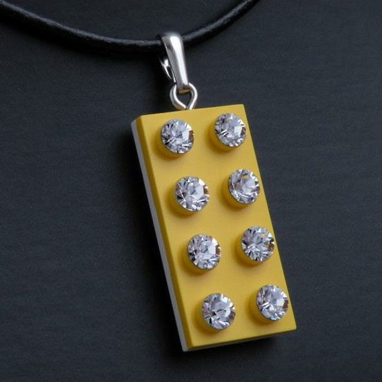 Lego jewelry. Make those diamonds and you'll have a piece that shows how I feel about Lego!