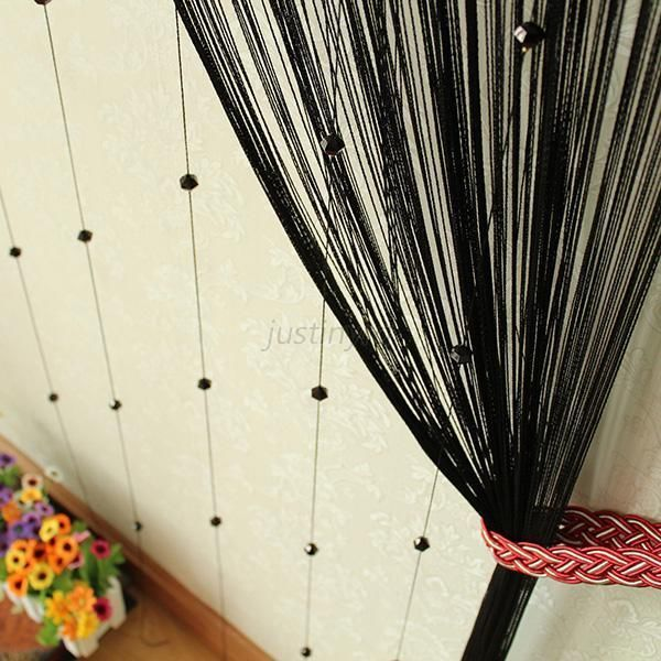 Multi Color Door Window Curtain Bead Tassel Room Divider Scarf Panel New