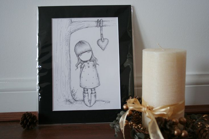And Our Love Grew - Original Sketch - Mounted (SOLD)
