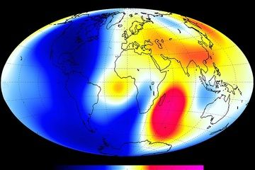 Changes measured by the Swarm satellite over the past 6 months shows that Earth's magnetic field is weakening
