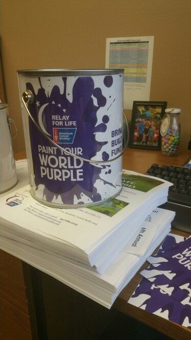 Relay For Life Paint Your World Purple Pinterest And 2016