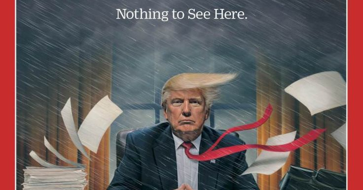 Le magazine dépeint le chaos des débuts du président américain à la Maison Blanche, entre scandales et revers politiques et judiciaires.