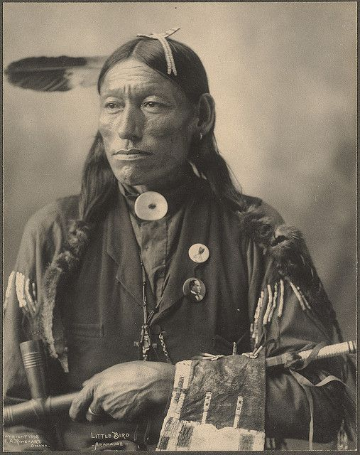 Little Bird, Arapahoe photographed by F.A. Rinehart. (c.1898).