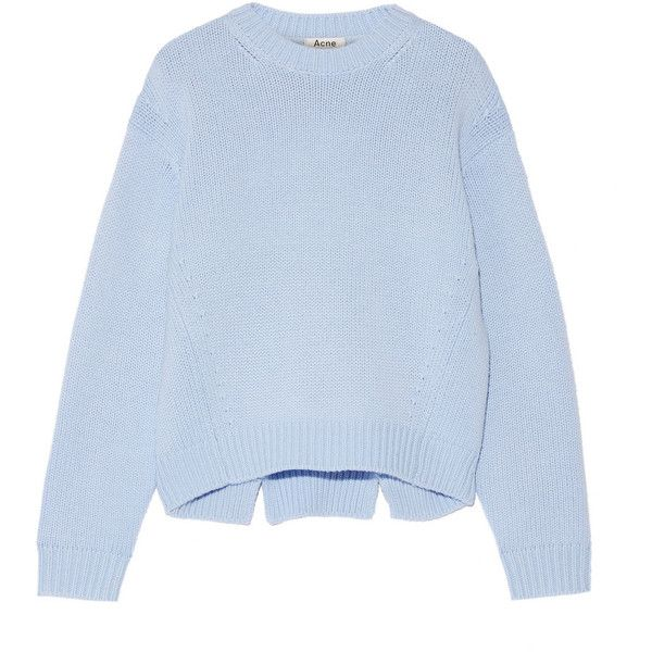 Acne Studios Shora wool and cashmere-blend sweater found on Polyvore featuring tops, sweaters, acne, blue, slouch sweater, slouchy tops, acne studios, loose sweater and loose fitting tops
