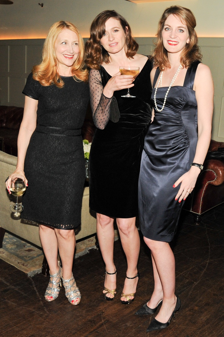 Actresses Patricia Clarkson and Emily Mortimer, literary ...