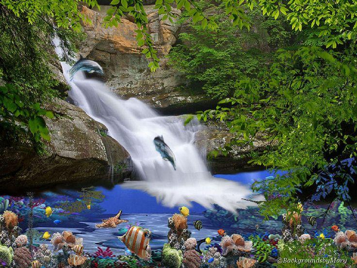Exotic Waterfall Wallpaper: Tropical Waterfalls