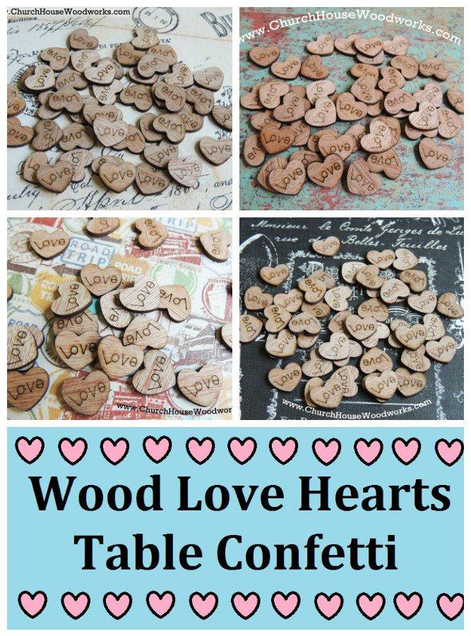 100, 300, 500 or 1000 pack of Tiny Wooden Engraved Love Hearts. These are really little. Perfect for scattering around a guest book or other wedding decor. Dimensions are approx 1/2 x 1/2 x 1/16 inch