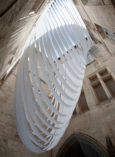 WOW could you imagine the light coming through this art installation!