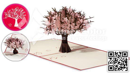 #CherryFlower #3DPopupcard #3Dopupgreetingcard #3Dgreetingcard #Kirigamicard #3DFlowercard #Popupcard
