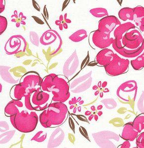 Tea Garden by Dena Designs DARJEELING in Fuschia by MyHeartandSew, $8.50