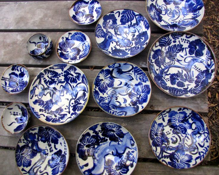 Cobalt and white ware from today's kiln opening.