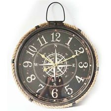 NEW Marine Compass Rope Rim FOB Wall Clock, 63cm