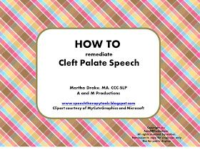 Speech Therapy Tools: HOW TO Remediate Cleft Palate Speech