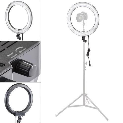 """Flashpoint Photo/Video 19"""" AC Powered 600W 5500K Dimmable Fluorescent Ring Light With Bag (Light Only)"""