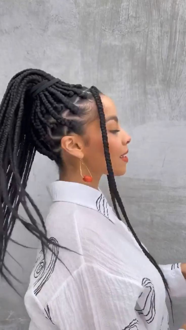 Black Girl Braided Hairstyles, Natural Afro Hairstyles, Box Braids Hairstyles, Protective Hairstyles, Hair Scarf Styles, Curly Hair Styles, Natural Hair Styles, Braids With Curls, Braids For Black Hair