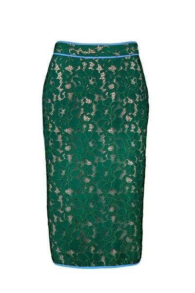 MSGM lace pencil skirt with floral pattern and concealed zip in the back  The model is 1,75m tall and is wearing size 38