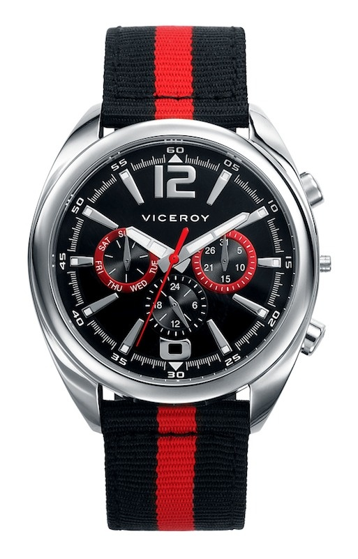 #reloj #Viceroy para hombre multifunción, correa multicolor y acero.