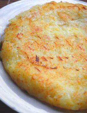 Tortino di patate senza uova  (e senza aggiunta di formaggio per la versione vegan)