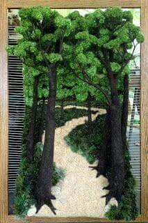 Arte de naturaleza en telar