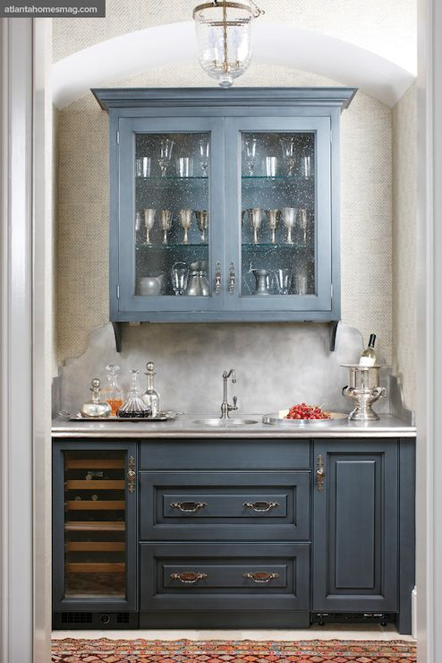 Atlanta Homes Lifestyles Kitchens Butlers Pantry Blue Butlers Pantry Butler Pantry
