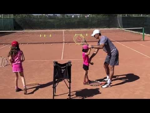 Serve Tennis Lesson (live) for Kids - how to teach tennis to little kids (promo) - YouTube