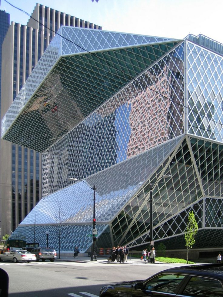 architecture moderne - Seattle central library par Rem Koolhaas