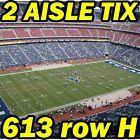 #Ticket  2 AISLE TIX: New Orleans Saints @ Houston Texans NFL PRESEASON 8/20 613rowH #deals_us