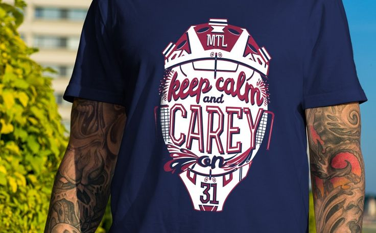 """Keep Calm and Carey On"" tees back in stock at www.Northlegends.ca"