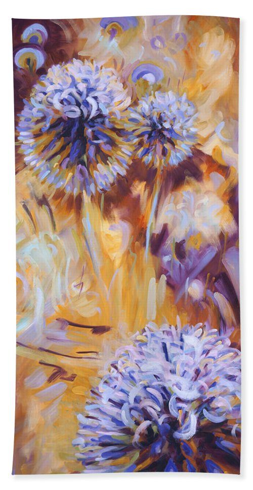 Blue thistle painting