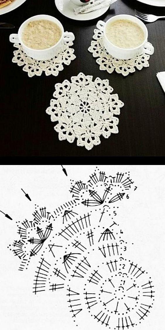 64 Pastas circulares de mini crochê (padrões)