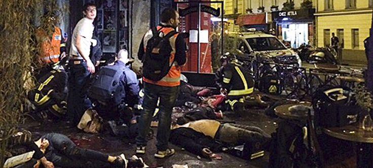 EN DIRECT - Des attaques terroristes sans précédent ont fait au moins 120 morts et 200 blessés vendredi soir à Paris et près du Stade de France. Huit assaillants sont morts, dont sept en se faisant exploser. François Hollande a décrété l'état d'urgence sur l'ensemble du territoire. Mon pays à mal !