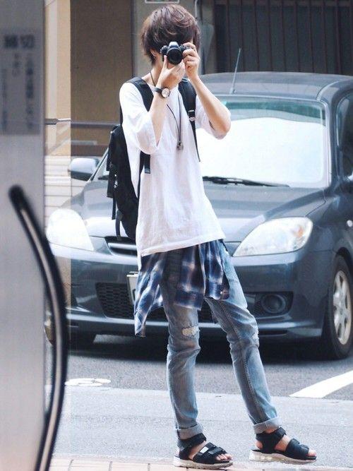 げんじ|MONKEY TIMEのTシャツ/カットソーを使ったコーディネート - WEAR