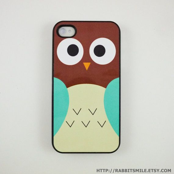 Brown/blue Owl iPhone 4 Case iPhone 4s Case iPhone by rabbitsmile, $16.00