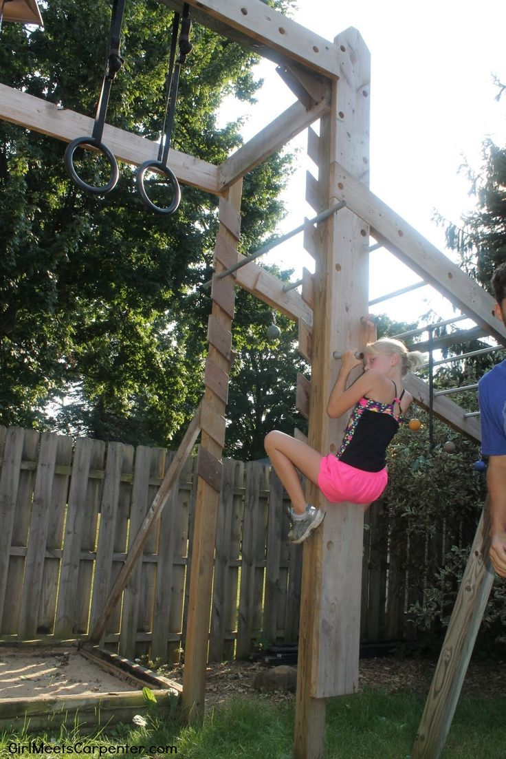 DIY Peg Wall For Kids And Adults, Backyard Ninja Obstacle Course, By Girl Meets Carpenter Featured On @Remodelaholic