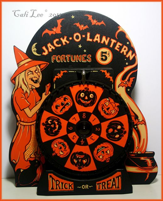 jack o lantern fortunes by cali lee see more vintage halloween - Antique Halloween Decorations