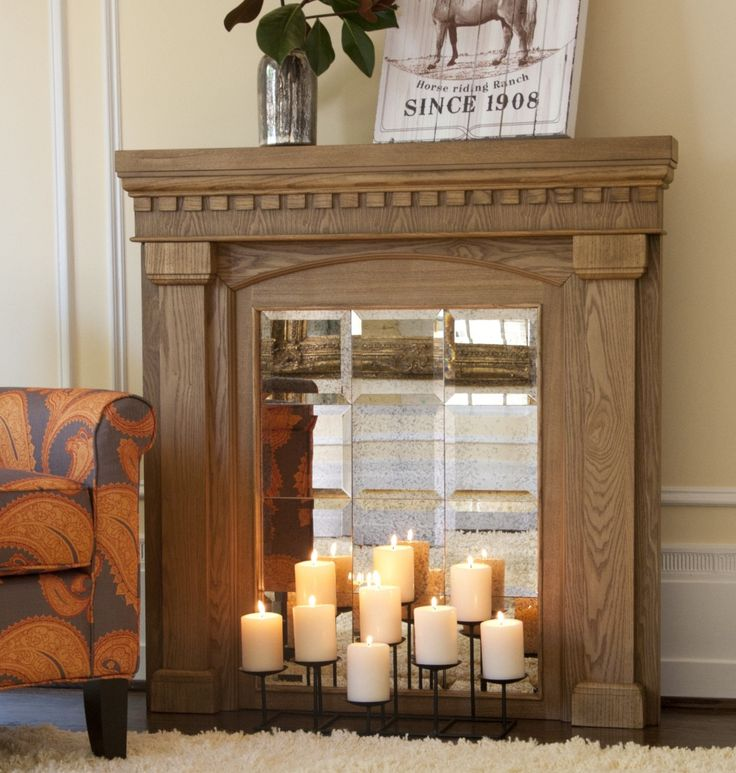 Candles In Fireplace Ideas 9 best mock fireplace ideas images on pinterest | fireplace ideas