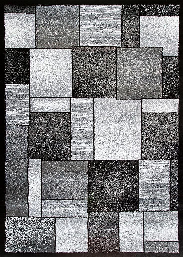 2094 Gray Square Contemporary Area Rugs