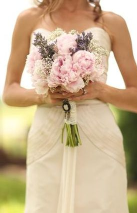 Brides Bouquet (White or peach peony style rose flowers instead of pink)