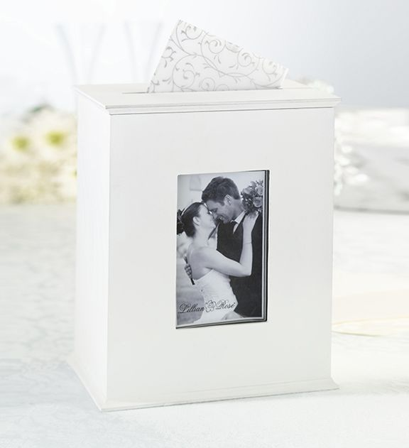 Wedding Reception Accessory, This White Wooden Photo Keepsake/Card Box Serves as Wedding Reception Card Box and Then After Wedding as a Keepsake Holder for Cards or Photos. www.ceceliasbestwishes.com