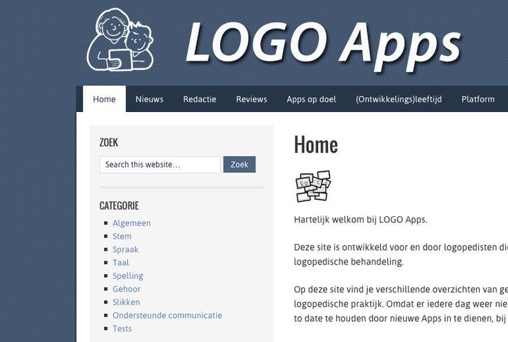 Op deze site vind je verschillende overzichten van geschikte Apps voor gebruik in de logopedische praktijk.
