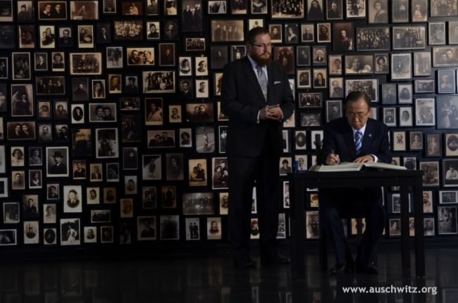 The UN Secretary-General, Ban Ki-moon, visited the Auschwitz Memorial Site and Museum on November 18. The visit, above all, paid tribute to victims of the camp but also emphasized the importance of the UN work for tolerance, peace and genocide prevention. During the visit the access of the International Center for Education about Auschwitz and the Holocaust at the Auschwitz Memorial — at the invitation of the UN — to the United Nations Academic Impact was announced.
