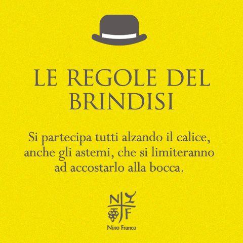 Le regole del brindisi perfetto. By Nino Franco Prosecco.
