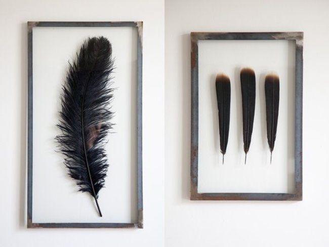 DIY: ingelijste veren - INTERIOR JUNKIE