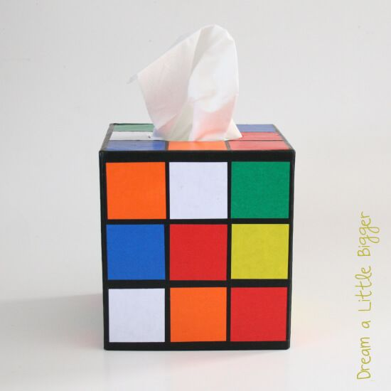 DIY to make a Rubik's Cube tissue holder like on Big Bang Theory!