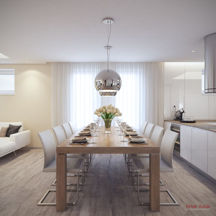 Priestranný jedálenský stôl
