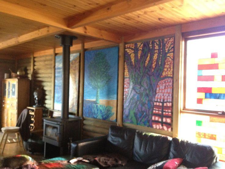 my artwork hung up at home