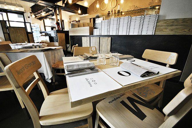 LA PIZZERIA TIPOGRAFICA ISPIRATA A BODONI A Torino si cena nella Pizzeria Tipografica, un omaggio al mondo della stampa a caratteri mobili che prende ispirazione da Bodoni.