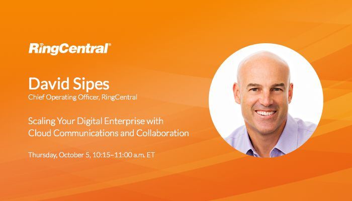 Don't miss #COO David Sipes at #GartnerSYM/#ITxpo on Thursday, 10/05, as he addresses the #business benefits of implementing #cloud #communications and #collaboration strategies to empower your #workforce and scale your #digital #enterprise // #Technology #InformationTechnology #CIO #UCaaS